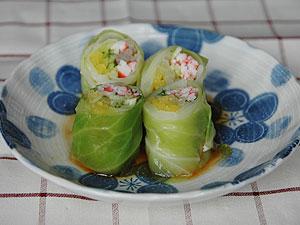 キャベツ巻きサラダ